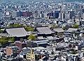 Kyoto Kyoto Tower Blick auf Nishi Hongan-ji 1.jpg