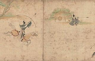 Rouleau illustré d'Obusuma Saburō