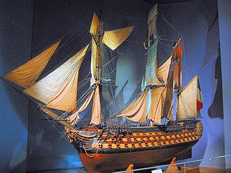 Lord Howe's action, or the Glorious First of June - A ship model of the Montagne