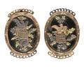 Lås av stål med ornament av guld och silver, 1800-tal - Hallwylska museet - 110497.tif