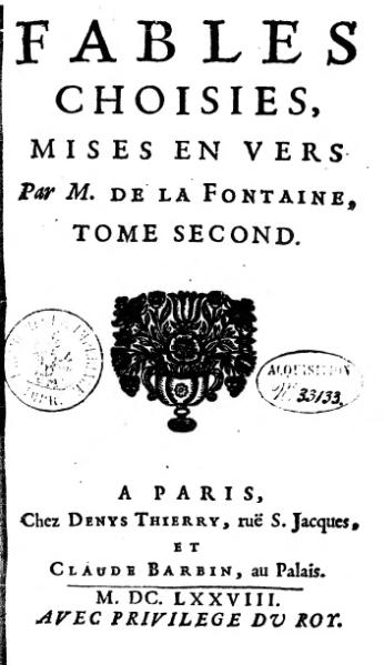 File:La Fontaine - Fables choisies, Barbin 1692, tome 2.djvu