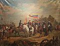La entrega de la bandera del Numancia al Batallón Sin Nombre.jpg