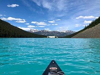 Lake Louise (Alberta) - Lake Louise boat view