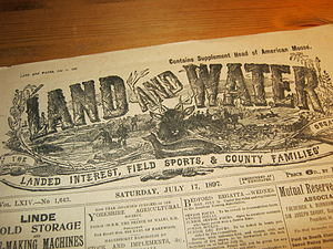 Land and Water - Land and Water newspaper header, Saturday 17 July 1897