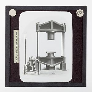Tea processing - Image: Lantern Slide Tangyes Ltd, Tea Press, circa 1910