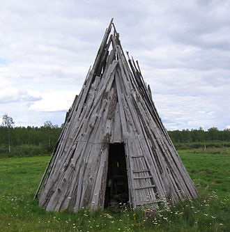 Goahti - A reconstruction of a wooden goahti