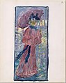 Large Boston Public Garden Sketchbook- A woman walking in the rain under an umbrella MET DT3397.jpg