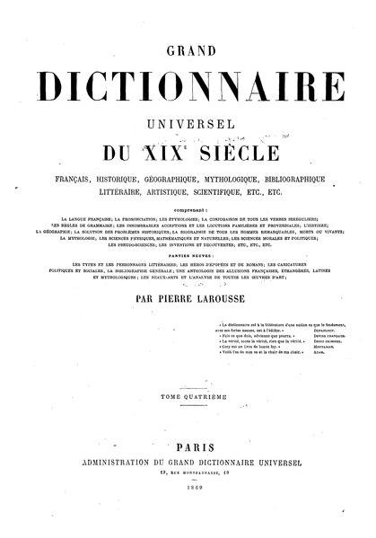 File:Larousse - Grand dictionnaire universel du XIXe siècle - Tome 4, part. 4, Con-Contrayerva.djvu