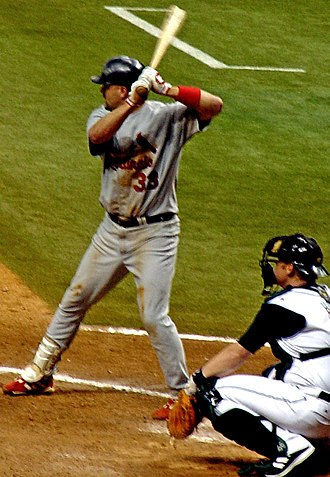 Larry Walker - Walker batting with the St. Louis Cardinals in 2005