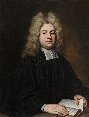Laurence Echard - A painting of Laurence Echard by Godfrey Kneller