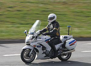 Icelandic Police - A Yamaha FJR1300 police motorcycle.