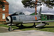 León NCOs academy C.5-1 F-86F-25-NH Sabre Preserved parade ground (2941637556).jpg