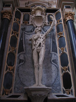 Ligier Richier - Le Transi de René de Chalon, Church of St. Étienne, Bar-le-Duc, France.