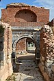 Lefke Gate (the eastern gate) with Roman triumphal arch dating to the 1st century AD, later part of Nicaea's Byzantine fortifications, Iznik, Turkey (24597061108).jpg