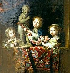 Portrait of three children, possibly the children of Gerrit Bicker van Swieten and Cornelia Bicker
