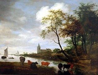 Cows at a River
