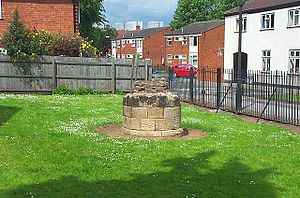 Lenton, Nottingham - The remains of a stone column from the priory