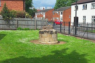Lenton Priory - The remains of a stone column from the priory