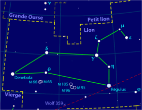 image illustrative de l'article Lion (constellation)