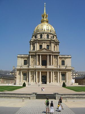 History of hospitals - The church at Les Invalides in Paris, showing the typically close connection between hospitals and the Catholic church