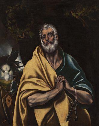 Cau Ferrat Museum - El Greco. The Tears of Saint Peter, c-1595-1614