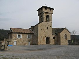 The church in Les Salelles