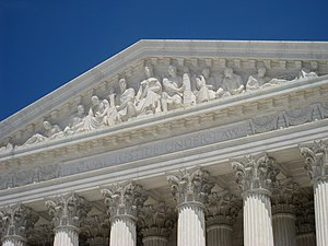 Robert Ingersoll Aitken - West pediment of the Supreme Court in Washington, D.C., by Robert Aitken.