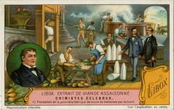 Achard, Chimistes Celebres, Liebig's Extract of Meat Company Trading Card, 1929 (Source: Wikimedia)