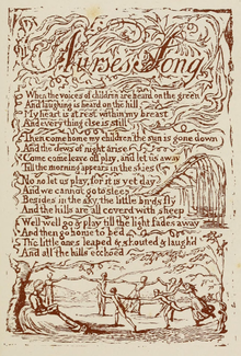 Life of William Blake (1880), Volume 1, Songs of Innocence - Nurse's Song.png