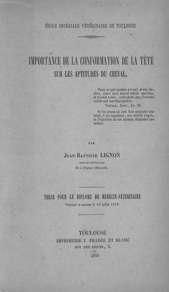 File:Lignon - Importance de la conformation de la tête sur les aptitudes du cheval.djvu