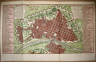 Walls of Lima - The walls of Lima in a plan of 1750
