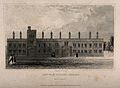 Lincoln College, Oxford; the west facade. Line engraving by Wellcome V0014113.jpg