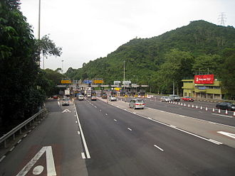 Lion Rock Tunnel - Lion Rock Tunnel toll plaza, on the Sha Tin side.