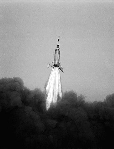 Little Joe 6 launch from Wallops Island, NASA photo (4 Oct 1959)Source: Wikipedia 366px-Little_Joe_6_launch_10-4-1959_from_Wallops_Is._Virginia.jpg