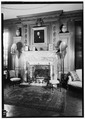 Living Room, Fireplace - close-up, July 1941. - Springwood, Hyde Park, Dutchess County, NY HABS NY,14-HYP,5-29.tif