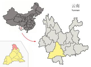 Jingdong Yi Autonomous County Place in Yunnan, Peoples Republic of China