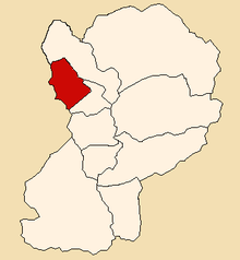Location of Santo Toribio in the Huaylas province