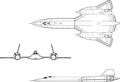 Lockheed SR-71B trainer model 3view.png