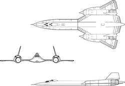 Lockheed SR-71B trainer model 3view.png