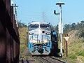 Locomotiva de comboio que saía sentido Boa Vista do pátio da Estação Ferroviária de Salto - Variante Boa Vista-Guaianã km 212 - panoramio.jpg