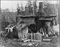 Logging donkey and gasolene (sic) power saw, Goodyear Logging Co., Clallam Co., Wash. LCCN2005685988.jpg