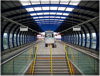 London City Airport DLR station Docklands Light Railway station