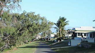 Keppel Sands, Queensland - Housing along Schofield Parade (esplanade), 2016