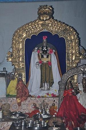 Balijipeta - Statue of Lord Balaji in Sri Venkateswar Swamy temple, Balijipeta