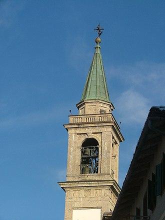 Hermagoras of Aquileia -  SS Ermagora and Fortunato's church-belfry, Lorenzago di Cadore, Veneto, Italy.