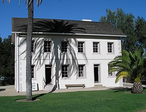 Rancho Los Encinos - The limestone Garnier building at Rancho Los Encinos: restored from 1994 Northridge earthquake damages and now the park's Visitor Center.