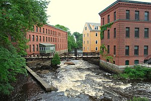 Milton, Massachusetts - Milton's Walter Baker Chocolate Factory to the right