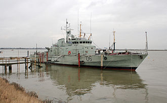 Brooke Marine - The Lowestoft Defender at Heybridge Basin. The fast attack craft was built by Brooke Marine in the 1970s for the Royal Navy of Oman.