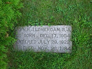 Bernard Lonergan - Gravestone of Lonergan within the grounds of Loyola House, Guelph