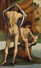 Figures in a Landscape: Two Nude Youths